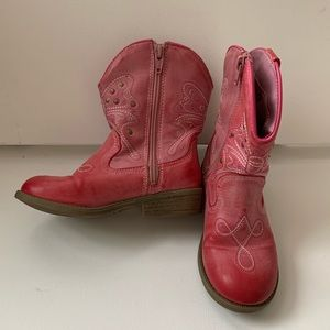 Girl's size 11 Cherokee pink cowboy boots